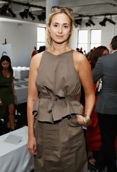 Elisabeth von Thurn und Taxis Bangle Bracelet [fashion model,fashion,clothing,shoulder,hairstyle,fashion show,dress,fashion design,haute couture,event,reed krakoff,elisabeth von thurn und taxis,front row,mercedes-benz fashion week,fashion show,skylight west,new york city]