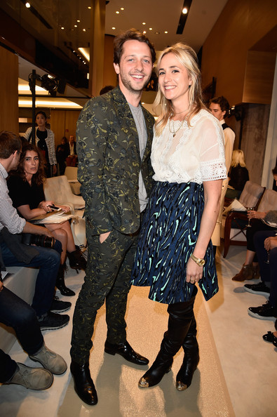 Elisabeth von Thurn und Taxis Knee Length Skirt [fashion,runway,event,fashion show,fashion model,fashion design,haute couture,footwear,dress,shoe,sonia rykiel,elisabeth von thurn und taxis,derek blasberg,front row,part,l-r,paris,france,paris fashion week womenswear spring]