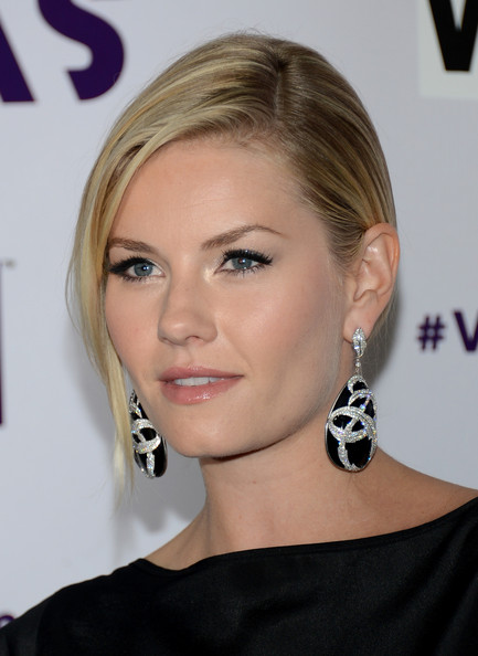 Elisha Cuthbert Dangling Gemstone Earrings