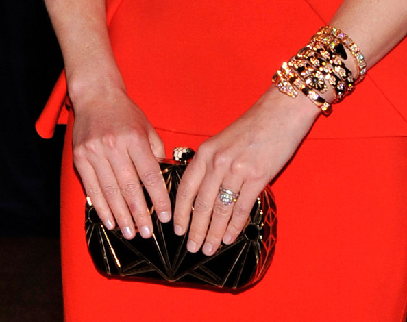 Elizabeth Banks Metallic Clutch