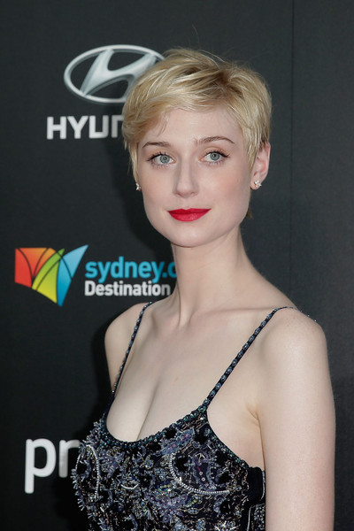 Elizabeth Debicki Messy Cut [hair,hairstyle,blond,lip,beauty,eyebrow,dress,fashion,shoulder,premiere,red carpet arrivals,elizabeth debicki,australia,sydney,presto,the star,aacta]