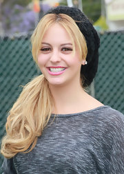 Gage Golightly beamed in her shimmering light pink lipstick.