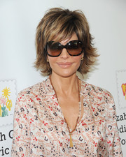 Lisa Rinna looked stylish with her razor cut at the 2015 A Time for Heroes Family Festival.