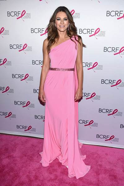 Elizabeth Hurley One Shoulder Dress