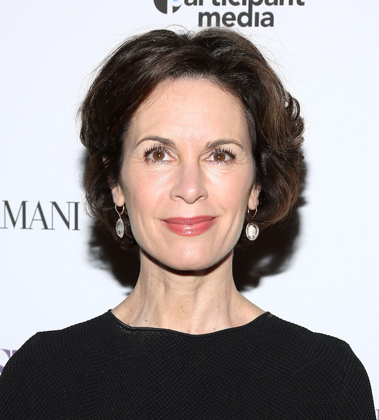 Elizabeth Vargas Short Wavy Cut [hair,face,hairstyle,eyebrow,lip,chin,skin,head,shoulder,beauty,arrivals,elizabeth vargas,florence gould hall theater,new york city,giorgio armani presents the new york premiere of a24,a most violent year]