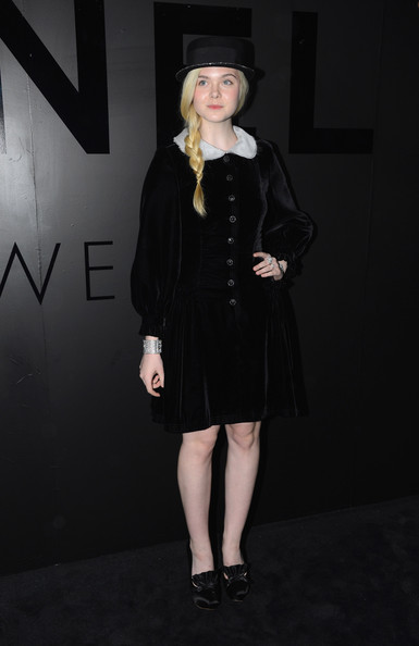 Elle Fanning Little Black Dress
