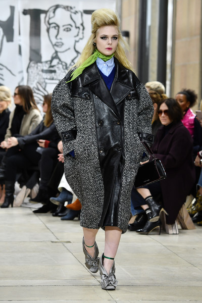 Elle Fanning Tweed Coat