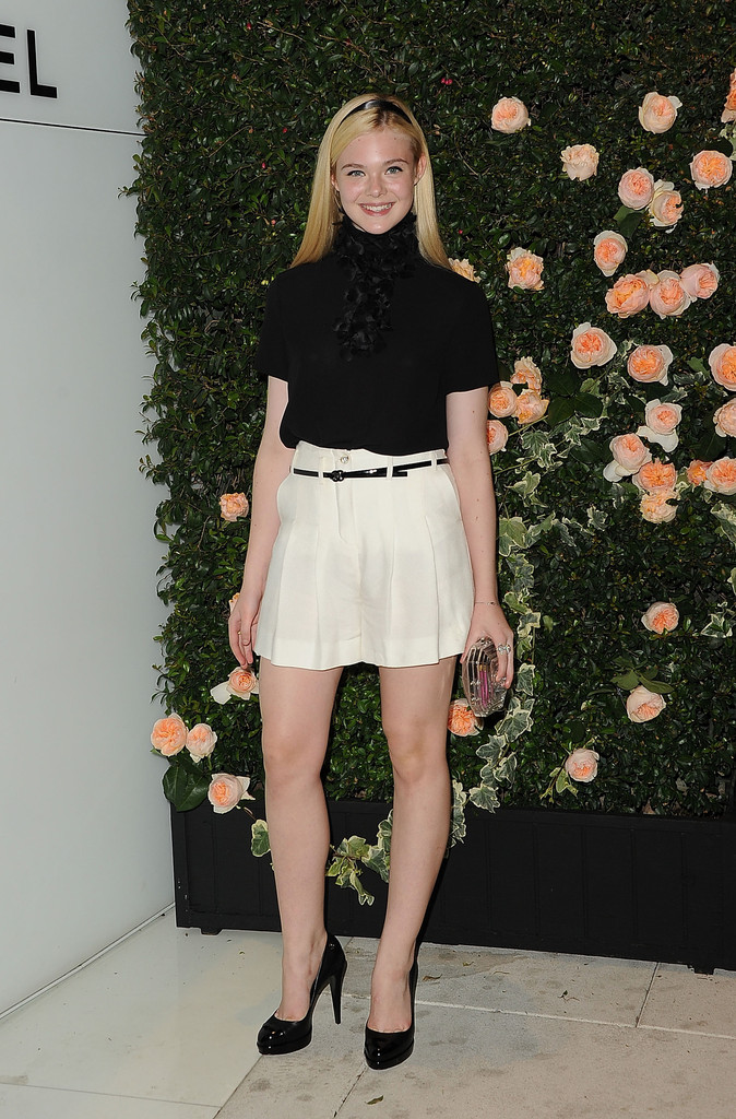 Elle Fanning High Waisted Shorts Elle Fanning Looks