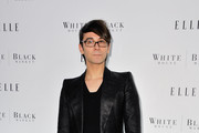 Christian Siriano Poses in a Black Blazer