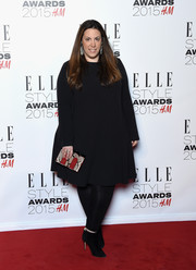 Mary Katrantzou donned a simple long-sleeve LBD for the Elle Style Awards.