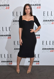 Atlanta de Cadenet cut a shapely silhouette in her little black corset dress during the Elle Style Awards.