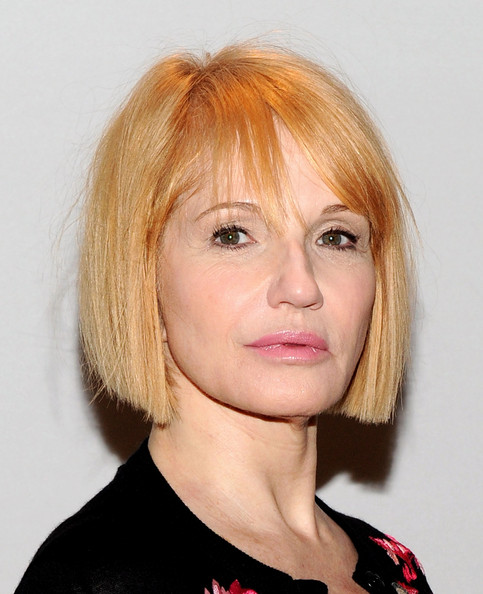 Ellen Barkin Bob [hair,face,hairstyle,blond,chin,eyebrow,lip,head,bangs,bob cut,ellen barkin,tony awards,new york city,millennium broadway hotel,tony awards meet the nominees press reception,nominees press reception]