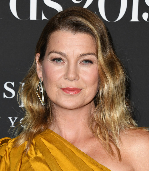 Ellen Pompeo Long Wavy Cut [hair,face,hairstyle,eyebrow,blond,lip,chin,beauty,long hair,skin,arrivals,ellen pompeo,instyle awards,the getty center,los angeles,california]