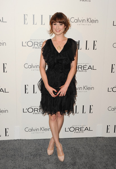 Ellie Kemper Little Black Dress