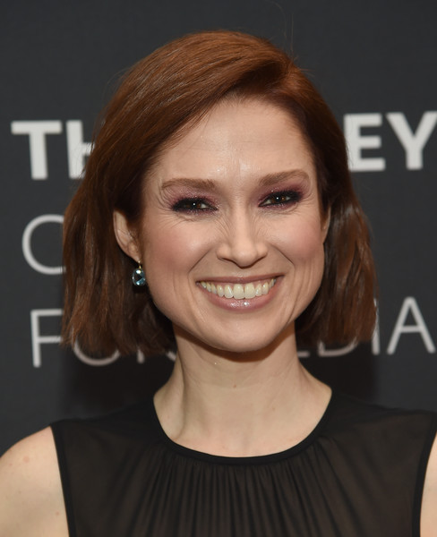 Ellie Kemper Bob [kimmy goes to the paley center: a celebration,hair,face,hairstyle,eyebrow,chin,skin,beauty,lip,layered hair,smile,unbreakable kimmy schmidt,ellie kemper,new york city,paley center for media]