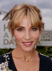 Elsa Pataky sported a messy boho updo at the Gioseppo Woman new collection photocall.