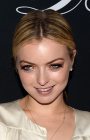 Francesca Eastwood wore a hippie-chic center-parted ponytail when she attended the Pink Party.