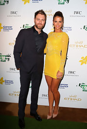 Vogue Williams stepped out in stratospheric nude pointed pumps as she accompanied her husband at the Emerald and Ivy Ball.