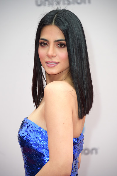 Emeraude Toubia Long Straight Cut [hair,beauty,human hair color,model,lady,black hair,hairstyle,fashion model,girl,photo shoot,arrivals,emeraude toubia,nevada,las vegas,mgm grand garden arena,latin grammy awards]