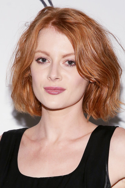 Emily Beecham Bob [hair,face,hairstyle,eyebrow,chin,lip,shoulder,beauty,layered hair,blond,emily beecham,nylon it girl prom,new york city,gilded lily]