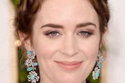 Emily Blunt Dangling Diamond Earrings