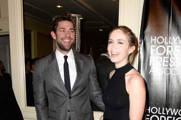 Emily Blunt John Krasinski Guests Arrive to the Hollywood Foreign Press Association Hosts Annual Grants Banquet