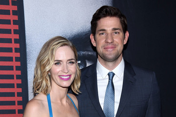 Emily Blunt John Krasinski 'The Girl on the Train' New York Premiere