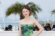 Emily Browning Strapless Dress