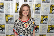 Emily Deschanel Print Blouse