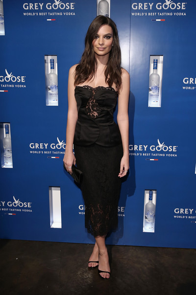 Emily Ratajkowski Evening Sandals [clothing,dress,cobalt blue,cocktail dress,little black dress,fashion,premiere,electric blue,fashion model,carpet,emily ratajkowski,grey goose,grammy awards,stadiumred,new york city,vip,the new york,stadiumred new york,grammy awards party]