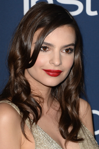 Emily Ratajkowski Long Wavy Cut [hair,face,hairstyle,eyebrow,lip,brown hair,chin,beauty,long hair,eyelash,emily ratajkowski,post-party - arrivals,beverly hills,california,instyle,warner bros. 71st annual golden globe awards,warner bros. 71st annual golden globe awards post-party]