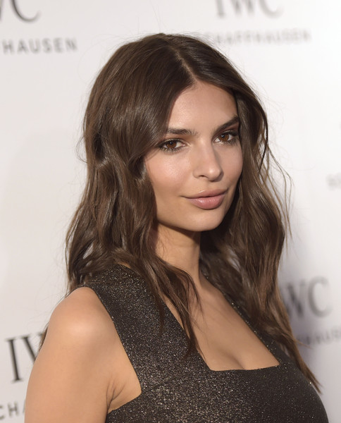 Emily Ratajkowski Long Wavy Cut [emily ratajkowski,iwc schaffhausen,hair,face,hairstyle,brown hair,fashion model,long hair,eyebrow,beauty,layered hair,chin,iwc schaffhausen celebrates rodeo drive grand opening,beverly hills,california,iwc shaffhausen,celebration,rodeo drive grand opening]