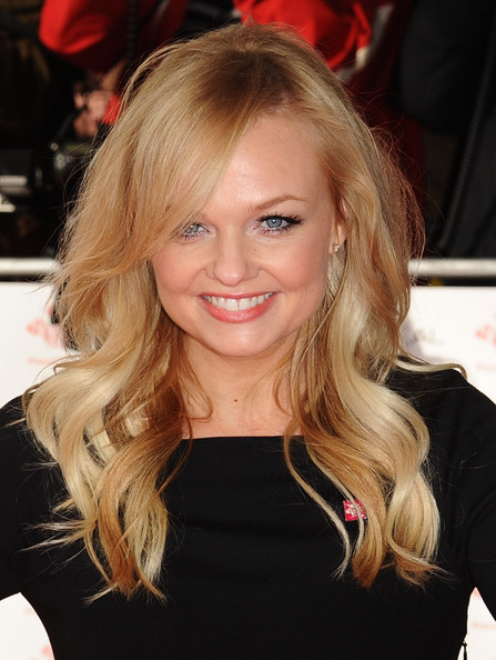 Emma Bunton Long Wavy Cut with Bangs