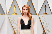 Emma Roberts Embroidered Dress