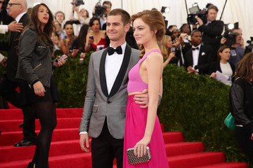 "Emma Stone Andrew Garfield ""Charles James: Beyond Fashion"" Costume Institute Gala - Candids"