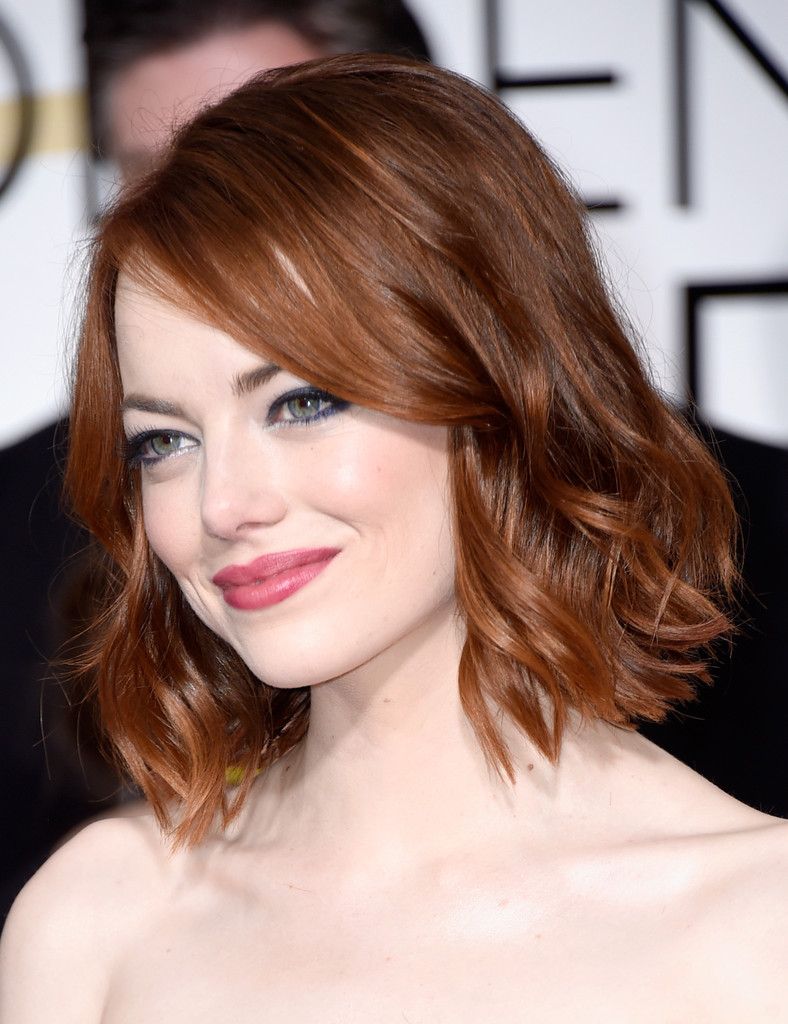 Emma Stone Short Wavy Cut - Short Hairstyles Lookbook - StyleBistro