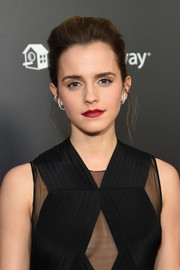 Emma Watson styled her hair into an edgy-glam pompadour for the New York screening of 'Beauty and the Beast.'