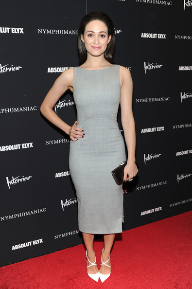 Emmy Rossum Leather Clutch