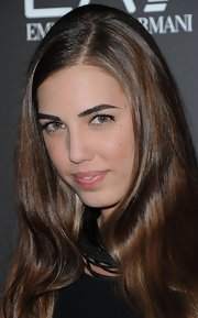 Amber Le Bon wore her ombre locks down at the Emporio Armani summer gala.