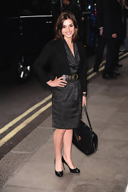 Charlotte Riley kept it classic in these black leather round-toe pumps.