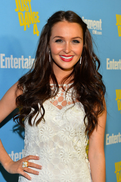 More Pics of Camilla Luddington Long Partially Braided (1 of 2) - Camilla Luddington Lookbook - StyleBistro [just dance 4,hair,hairstyle,long hair,eyelash,premiere,brown hair,lip,dress,smile,layered hair,camilla luddington,san diego,california,hard rock hotel,entertainment weekly,comic-con celebration]