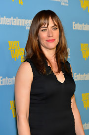 Maggie Siff wore her straight locks down at the Entertainment Weekly event.