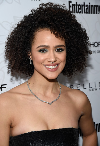 Nathalie Emmanuel looked gorgeous with her tight curls at the Entertainment Weekly SAG nominees celebration.