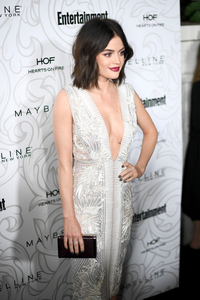 More Pics of Lucy Hale Medium Wavy Cut (1 of 3) - Shoulder Length Hairstyles Lookbook - StyleBistro