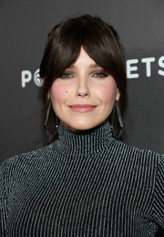 Sophia Bush styled her hair into a ponytail with parted bangs for the Entertainment Weekly SAG nominees party.