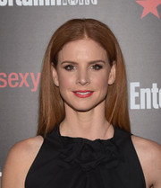 Sarah Rafferty came simply styled with this straight center-parted 'do to the Entertainment Weekly SAG Awards nominee celebration.