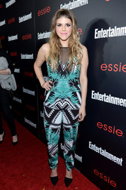 Molly Tarlov looked vibrant in a printed jumpsuit by Bless'ed are the Meek during the Entertainment Weekly SAG nominees celebration.