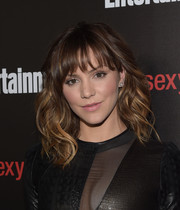 Katharine McPhee looked fab with her piecey waves and wispy bangs at the Entertainment Weekly SAG Awards nominee celebration.