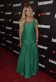 Laverne Cox's green Halston Heritage gown at the Entertainment Weekly SAG Awards nominee celebration looked pretty enough for the SAG Awards itself.
