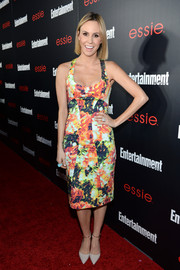Keltie Knight looked sweet and sexy at the same time in a low-cut, body-con floral dress during the Entertainment Weekly SAG nominees celebration.